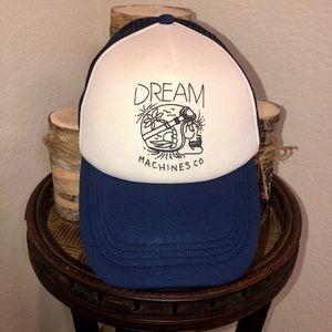 "Vintage-Inspired 'Dream Machines Co."" Hat"
